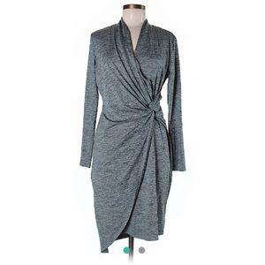 Tribal long sleeve wrap-style sheath dress